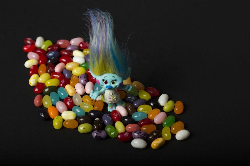 Still Life Trolls Blue Jellybean Colorfull