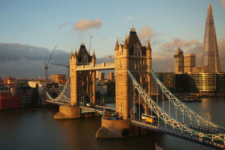 Architecture Capital Cities  England Famous Place History London London Tower Bridge River Sightseeing Sunrise London Sunset London  Tower Bridge  Travel Destinations