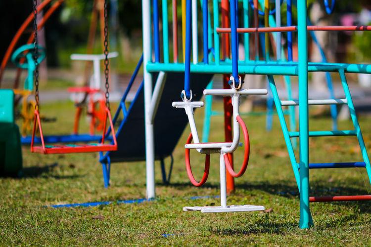 Empty equipment in playground
