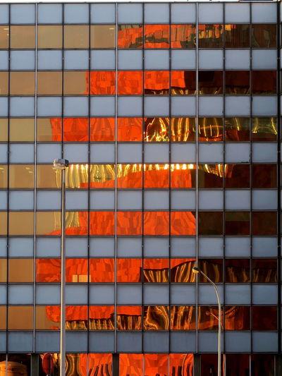 Full frame shot of multi colored office during sunset