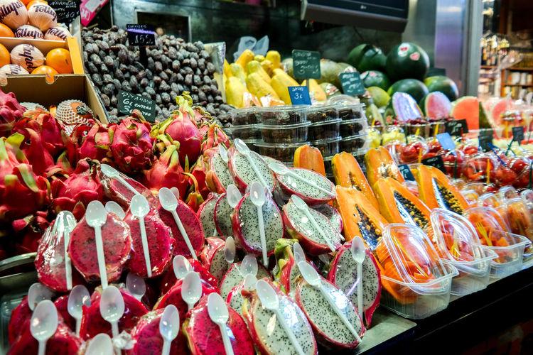 Fruits At Market For Sale