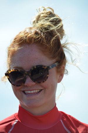 Juliette Brice (Lacanau surf club) a remporté la finale catégorie Open dames à la première étape du circuit de la Coupe de France de surf, dimanche 10 avril 2016 aux Sables d'Olonne (Vendée). Brice  Coupe De France De Surf Juliette Brice Lacanau Surf Club Portrait Surf Surf Competition
