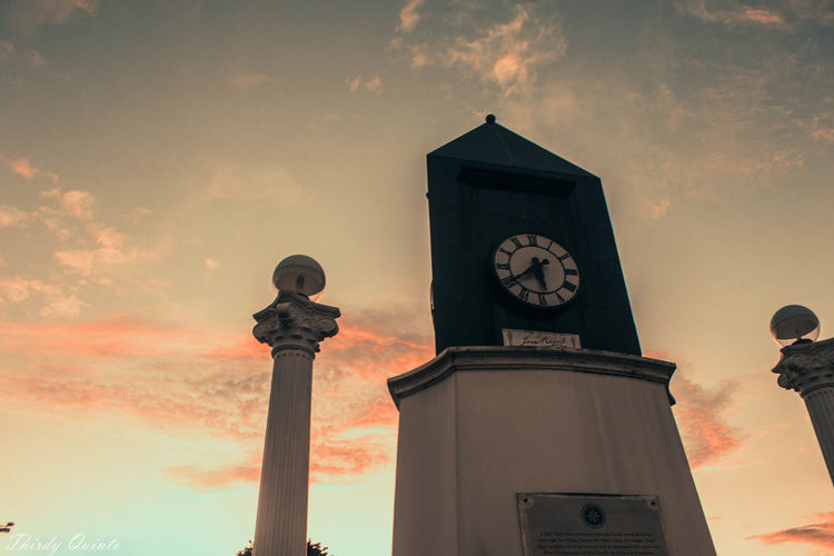 Time is precious, don't waste it. Clock Clock Face Close-up Cloud - Sky Day Instrument Of Time Low Angle View Luneta Park Manila, Philippines Minute Hand Nature No People Outdoors Sky Sunset Time Zero Kilometer Stone