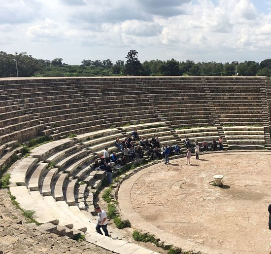 Amphitheatre Cyprus History Ruins Architecture Salamis Outdoors Historical Greek Mythology Greekarchitecture Tranquil Scene PhonePhotography Iphone6 People Watching