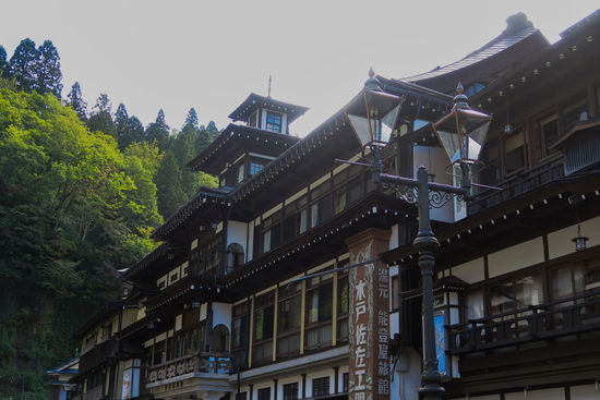 Japanese Hotel Onsen Building Exterior Built Structure Traditional Hotel