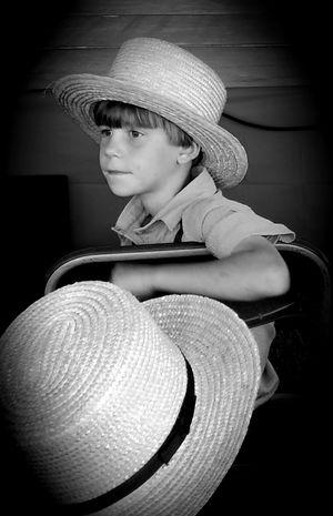 Amish boys The Street Photographer - 2018 EyeEm Awards Headwear Sun Hat Child Childhood Hat