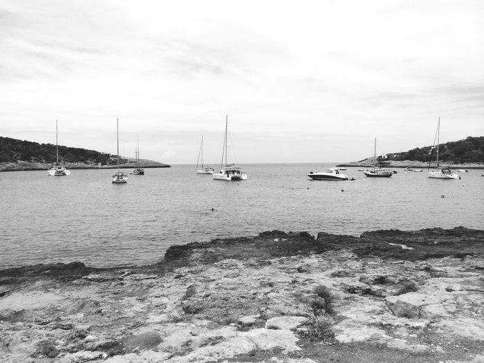 Blackandwhite Monochrome Black & White Black And White Landscape Boats Maritime IPhoneography Enjoying The Sun Walking Around