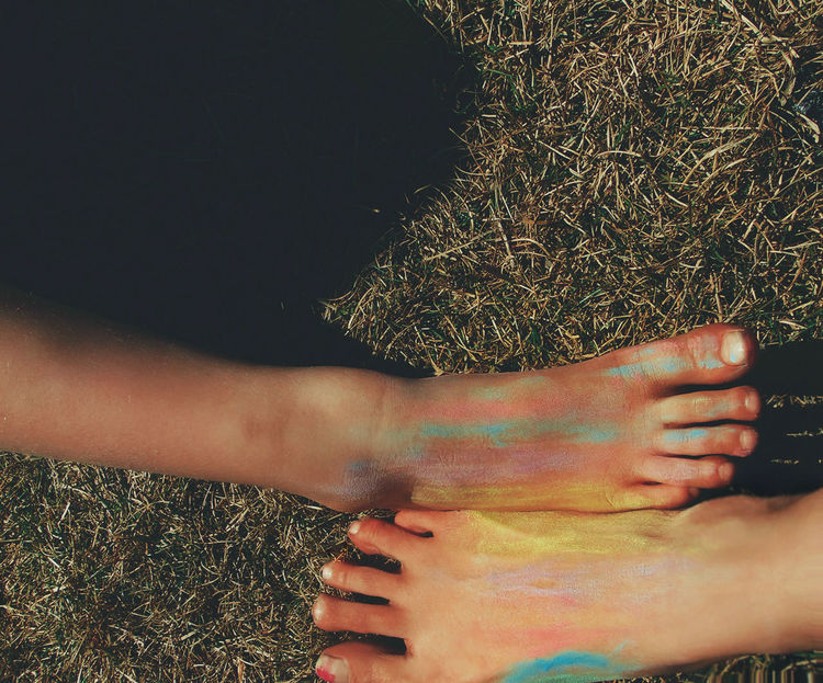 Nature People Toes Two People Togetherness Grass Feet Colorful Rainbow Outdoors EyeEm Diversity Live For The Story