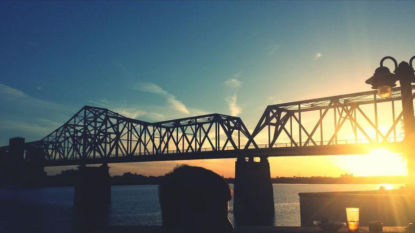 Riverfront Louisvilleky Prettysky Sunset #bridge #ohioriver