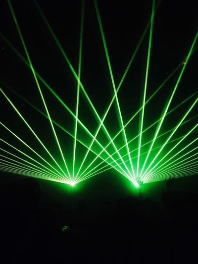 Flashing Lights Lights Club Night Illuminated Laser Stage Light Green Color Popular Music Concert Outdoors