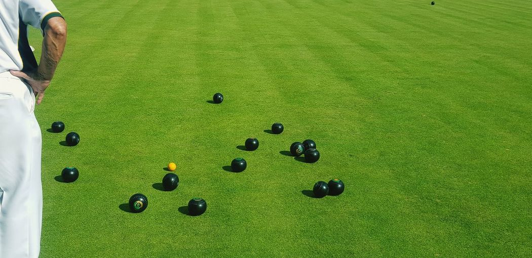 Bowls Bowling Grass Green Bowling Green Sport Green Color Snooker Ball