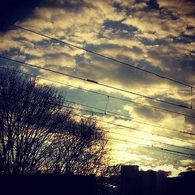 Instaphoto Prague TrainPhoto Sun sunny weather sky magic clouds tagsforlikes czech