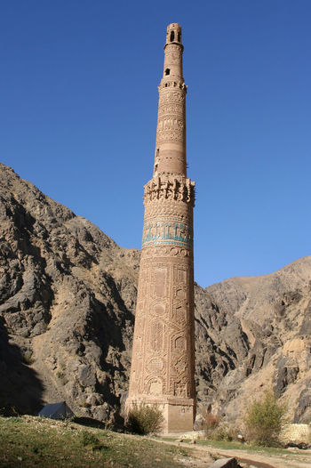 Afganistan😉 Chaghcharān Minaret Jam Afganistan Ancient Ancient Civilization Archaeology Architectural Column Architecture Built Structure Clear Sky History Low Angle View Mountain Nature Outdoors Ruined Sky Solid Sunlight The Past Tourism Tower Travel Travel Destinations