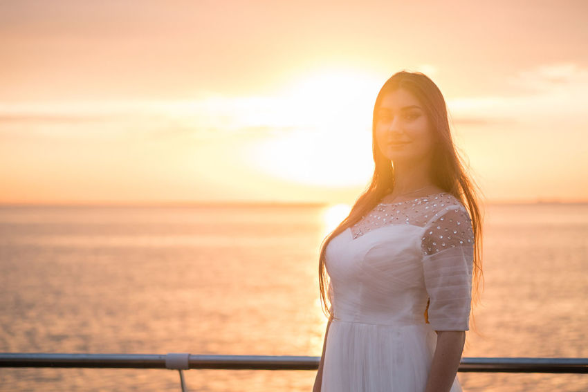 Dress Fashion Graduation Nature Beauty In Nature Beauty In Nature Bride Evening Girl Nature Ocean One Person Outdoors People Portrait Real People Sea Sky Style Sunrise Sunset Unform Water Women Young Adult