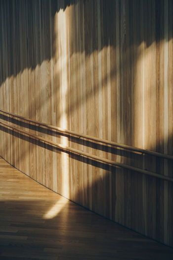 Sunlight On Wooden Wall In Alley Of Oslo Opera House