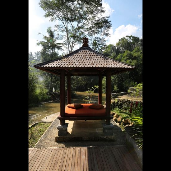 Architecture Bali Built Structure Cloud - Sky Day Footpath Formal Garden Gazebo Growth In A Row No People Outdoors Pathway Plant Sky Tranquility Tree Walkway