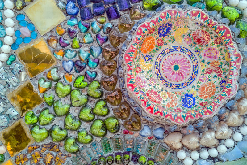 High angle view of multi colored for sale in market