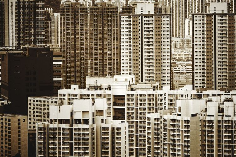 Sepia Something Monochromatic NostalgicHongKong TeddyKwok Hong Kong Architecture Hong Kong Urban Lessismore Concrete Jungle Cityscape Close-up Architecture Building Exterior Pixelated Skyline Tall - High Tower Urban Skyline