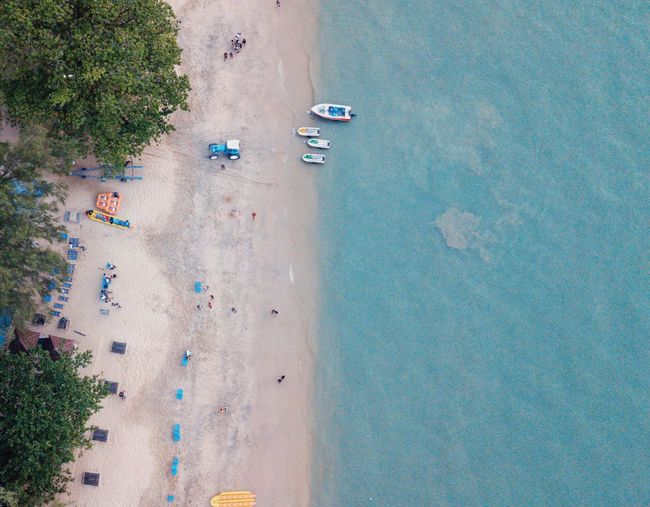High angle view of beach