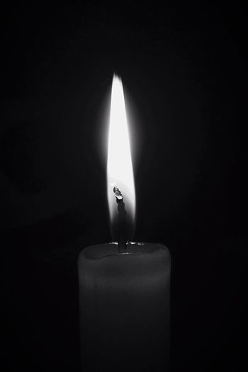 Flame Burning Candle Heat - Temperature Darkroom No People Close-up Black Background Indoors  Illuminated Studio Shot Day IPhone Iphpnegraphy