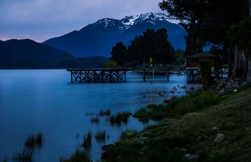 Te Anau Lake in New Zealand Lake Water Scenics Tree Vacations Night Landscape No People Arrival Bridge - Man Made Structure Mountain Outdoors Nature EyeEm Selects