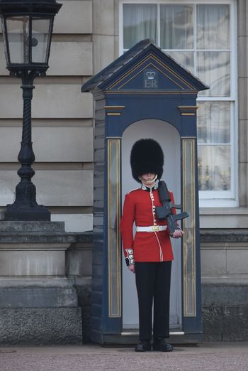 Guard House History Architecture Tourism Built Structure Full Length Travel Outdoors Day One Person Travel Destinations Building Exterior Military Uniform Red Standing Adult Real People Royalty London Visit London Red Occupation Soldier Tradition Palace