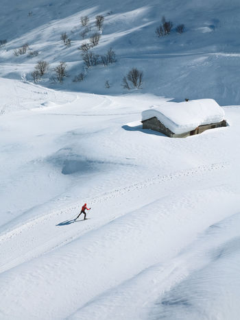 Cross-country skiing in Riale - Val Formazza - Lombardy (ITALY) Adventure Beauty In Nature Cold Temperature Crosscountry Skiing Extreme Sports Leisure Activity Lifestyles Nature One Person Outdoors Real People Scenics Ski Holiday Skiing Skitouring Snow Sport Vacations Weather White Color Winter Winter Sport Go Higher