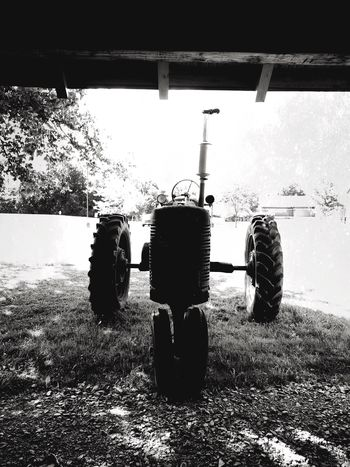 IPhoneography Monochrome Blackandwhite Tractor Silhouette
