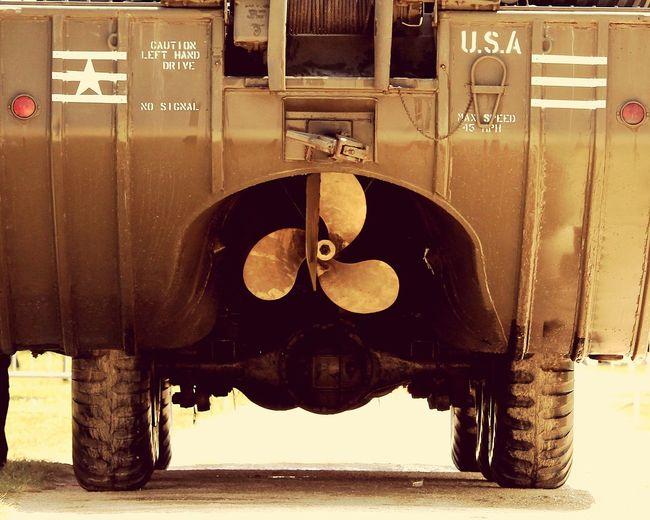 DUKW EyEmNewHere Amphibian War Truck War Vehicle Ancient Vintage Technology Old-fashioned Close-up Retro