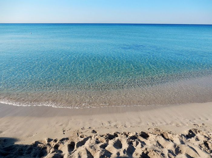 Alba Mar Ionio Panorama Riva Degli Angeli Salento Italy Salento Puglia Beach Beauty In Nature Day Estate Land Mattina Presto Nature Outdoors Riva  Sabbia Sand Scenics - Nature Sea Sky Vacanza Water