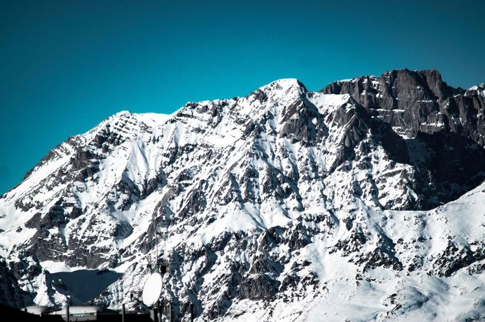 EyeEm Selects Mountain Snow Clear Sky Winter Nature Cold Temperature Beauty In Nature Sunlight Outdoors No People Blue Scenics Peak Day Sky Range High