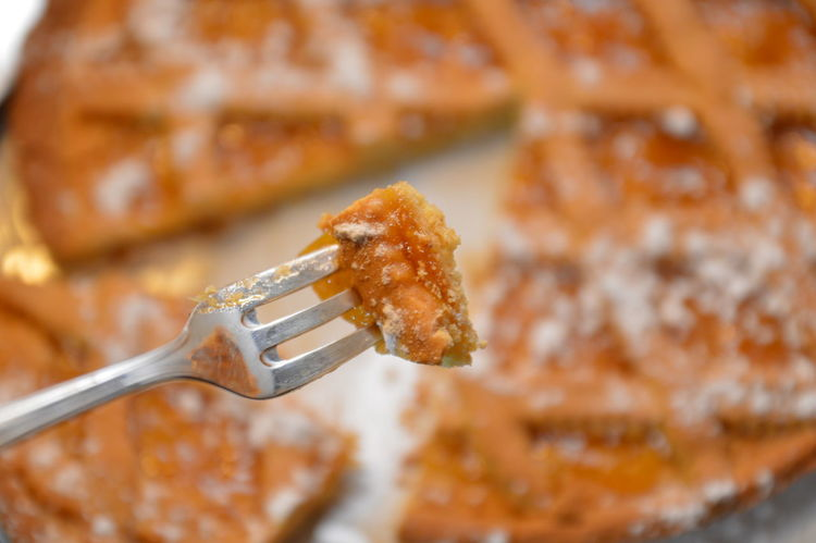 apricots cake crostata albicocche Apricots Crostata Baked Cake Dessert Pie Marmalade Albicocche Close-up Focus On Foreground Indoors  No People Fork Food And Drink Studio Shot Food Ready-to-eat Food Stories
