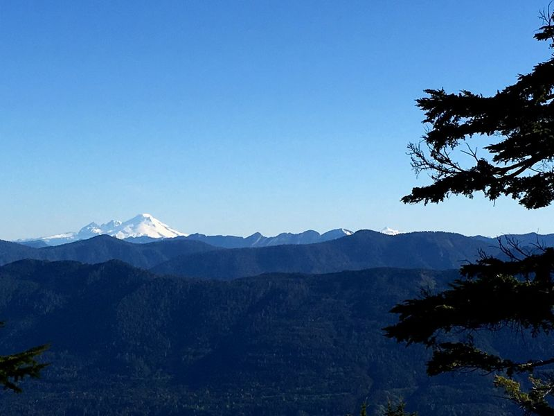 Blue Sky Mountains Mt Baker North Cascades Shuksan Evergreen State Rolling Hills