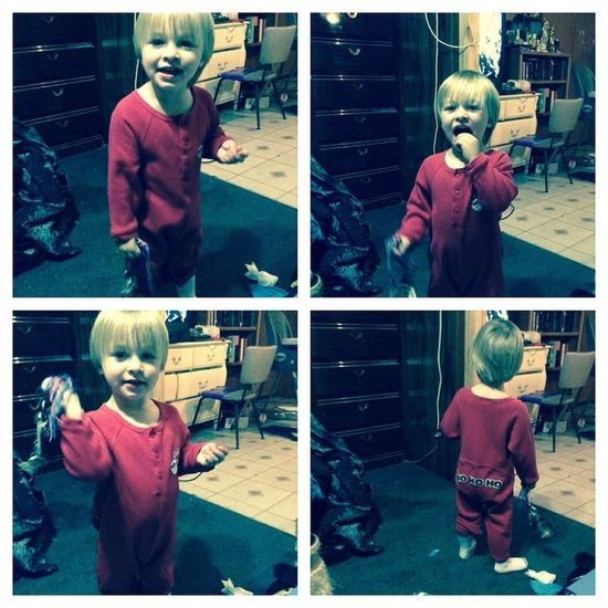 BeFunky because his pjs are to cute!!! So ready for Christmas!!!! Adorable
