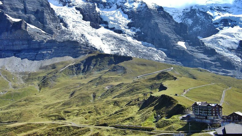 Grindelwald Switzerland NorthFace Mountain View Mountain Train Station Landscapes Peace And Quiet Colorful Summer Views