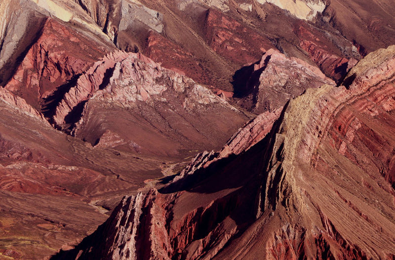 View of rock formation in humahuaca