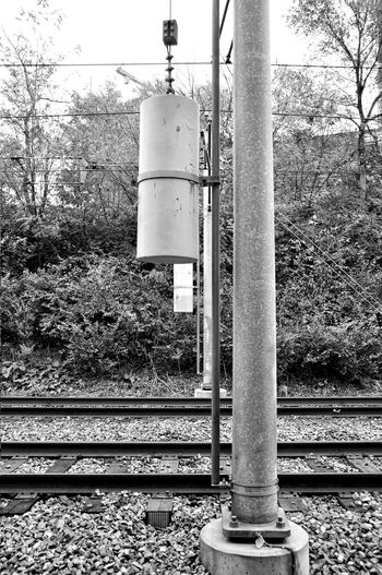 Railroad Black And White Metal Beams Metro Shapes And Forms