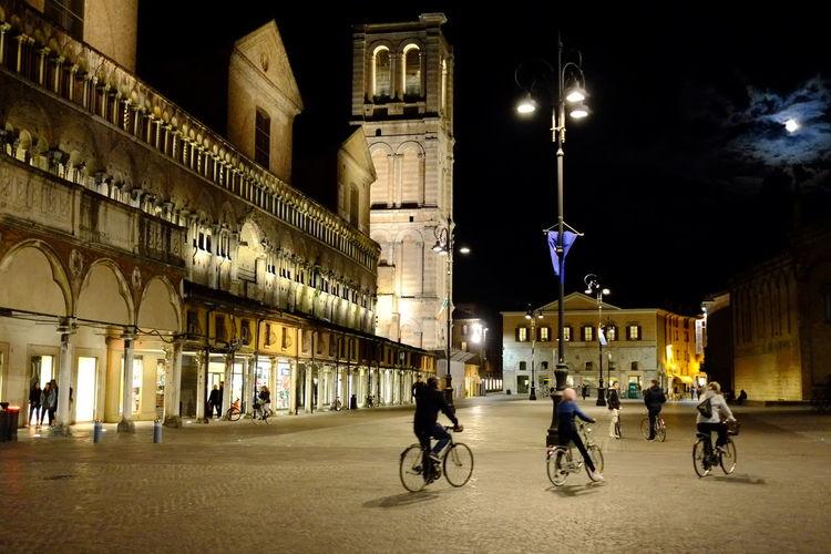 Ferrara- Italy Ferrarabynight Ferraracittadellebiciclette Ferraracentro Ferrara's Castle Luna Bicycles Bicicletta