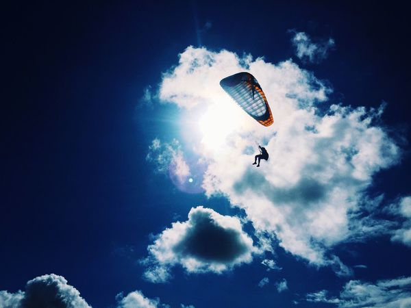 """There is freedom waiting for you on the breezes of the sky, And you ask ""What if I fall?"" Oh but my darling, What if you fly?"" -E.H. Cobalt Blue By Motorola Flying Flying High Sky Paragliding Freedom What Does Freedom Mean To You?"