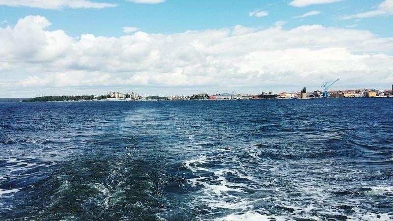 Meer Bootsfahrt Wellengang