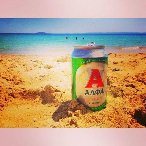 Μπορεί να το'χουν πλανέψει, ακρογιαλιές δειλινά... αλφα Μπύρα ImamBaildi Summer Summermood Summertime Summer2015 Sand Gold Goldbeauty Sea Seavoice Beach Beachlife στηνακτητουηλιου λοβμονο 😍❤️