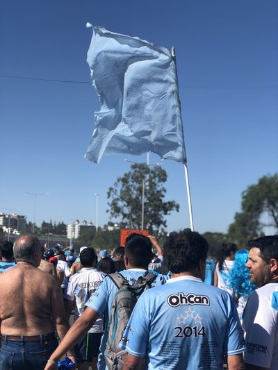 Hinchada Crowd Group Of People Real People Large Group Of People Sky Men Day