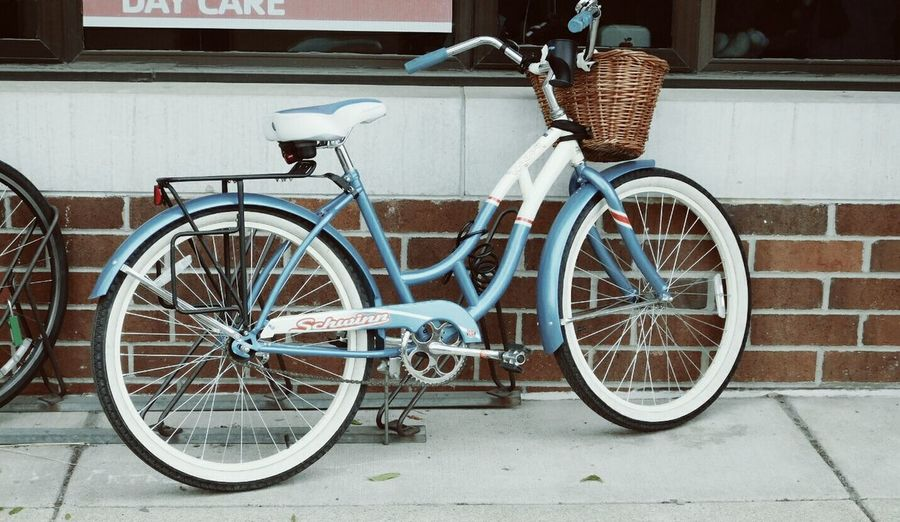Bike Blue Accent Bicycle Basket Bricks Enjoying Life Taking Photos Patterns & Textures Pattern, Texture, Shape And Form