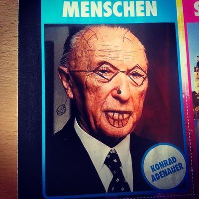 Magazine German Language Funny konrad adenauer deutscher politiker tagsforlikes instaphoto with friend @step_sus