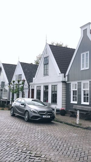 The beauty of transportation 😍 Architecture Car Outdoors Day Transportation No People Residential Building Tree Sky Mercedes Amsterdam Automotive Holiday Roadtrip Parking Tinyhouse