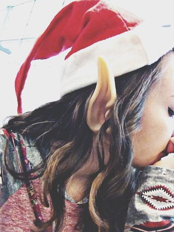 I was an elf today Christmas Spirit At School Hanging Out Taking Photos