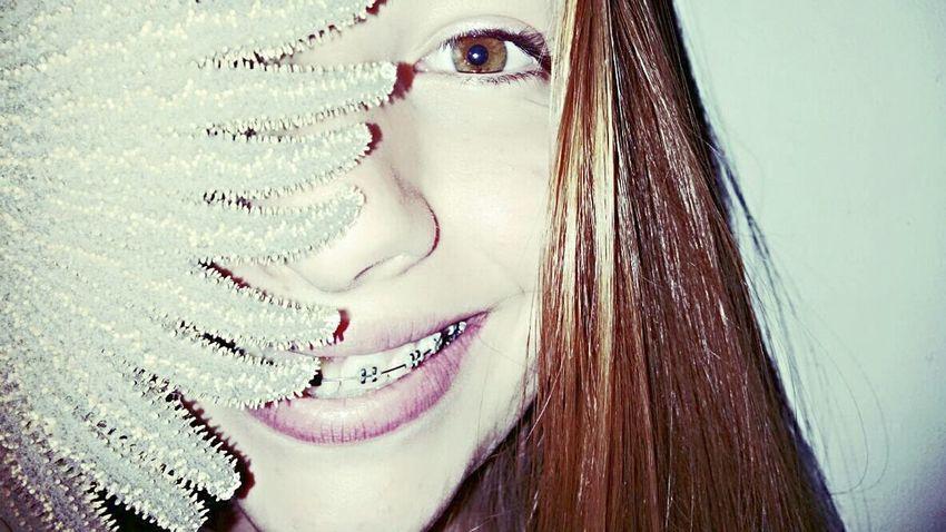 Eyes Smile Blondehair Face Brackets👍👌