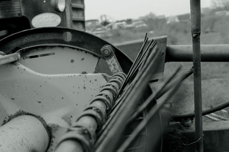 Cropped Image Of Tractor On Farm