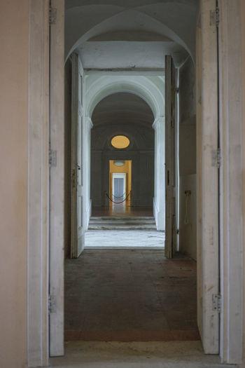 Reale tenuta di Carditello CARDITELLO Aisle Arch Built Structure Corridor Door Doorway History Indoors  No People The Way Forward
