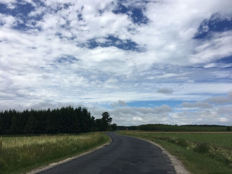 Road Sky The Way Forward Landscape Tranquil Scene Cloud - Sky Nature Scenics Beauty In Nature Tranquility No People Day Outdoors Field Tree Transportation Grass
